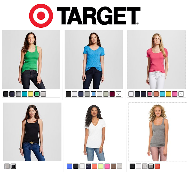Target is having a tee and tank sale today with tees starting at $6 and tanks starting at only $2,70! I personally have 3 of the Merona vintage vee tees, 2 of the Mossimo crew tees, and countless tank tops from both brands!