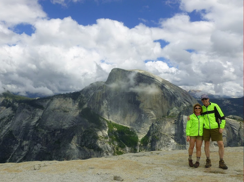Incomparable view of Half Dome's sheer north face from North Dome.  The Saratoga Skier and Hiker, first-hand accounts of adventures in the Adirondacks and beyond, and Gore Mountain ski blog.