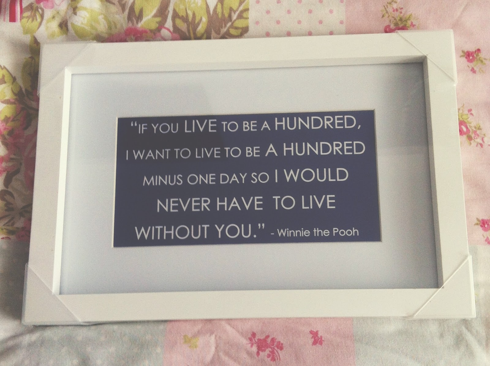 Makeupbeautylife Winnie The Pooh Framed Quote