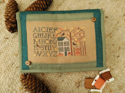 alforja neceser, necessaire brodeuse, bordado, punto cruz, embroidery, broderie, punto cruz, cross stitch, The Drawn Thread, simply autumn, otoño, automne