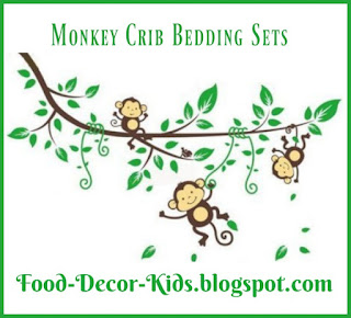 Monkey theme Crib Bedding Sets