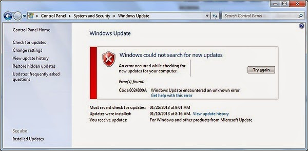Windows update error encountered | Windows 10 Windows Update and