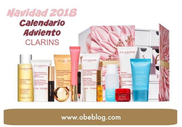 Calendario_Adviento_Clarins_Navidad_2018_ObeBlog