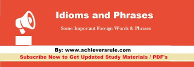 50 Important Idioms and Phrases for SSC CGL and Banking Exams