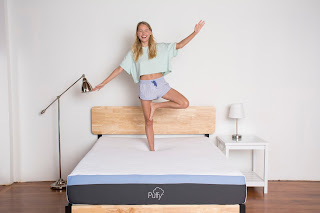 Puffy Bed-in-a-box mattress, memory foam mattress, best bed for bad backs,