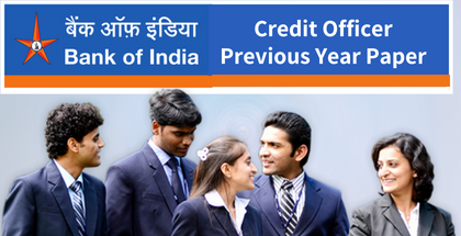 Bank of India Credit Officer Previous Paper