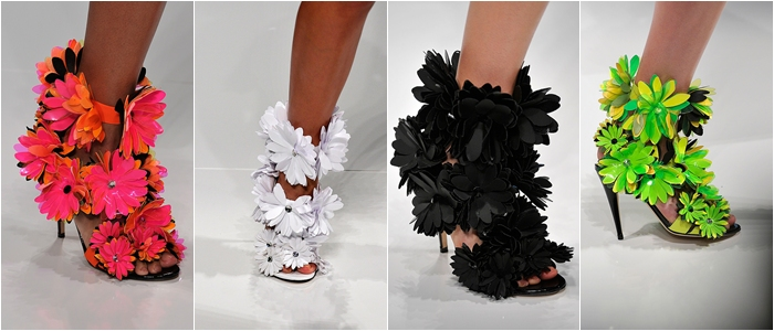 Blumarine spring 2012 flower applique sandals
