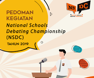 National Schools Debating Championship Tahun  K13 Semester 2 2019 : Download Buku Pedoman NSDC Tahun 2019
