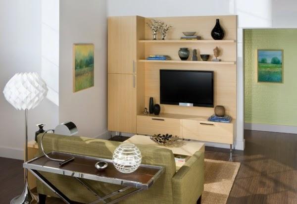 sala moderna con mueble tv
