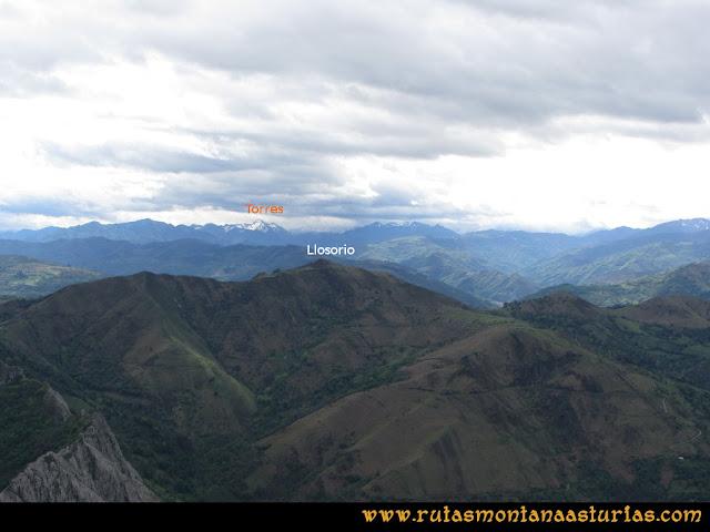 Ruta La Collada Monsacro: Vista del Llosorio y Torres