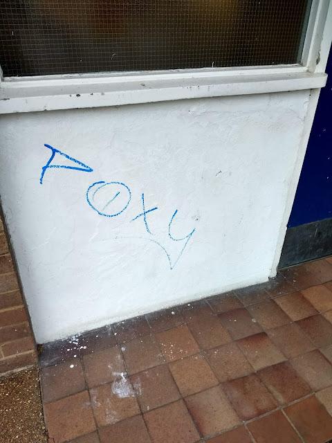 Cherry Hinton, Poxy, Graffiti, Tag, Flats, Nigel, Psychogeography