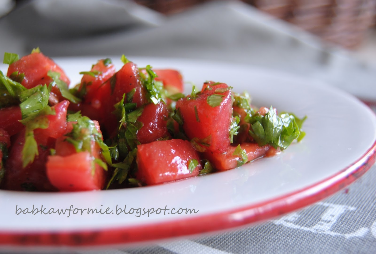 najprostsza sałatka z pomidorów babkawformie.blogspot.com