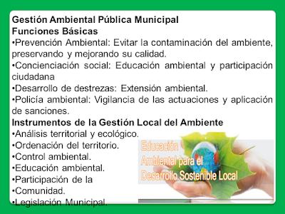 Instrumentos de la Gestión Local del Ambiente