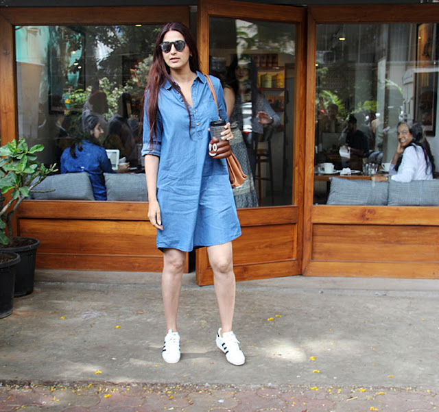 Sonali Bendre at Sequel Bistro & Juice Bar In Bandra