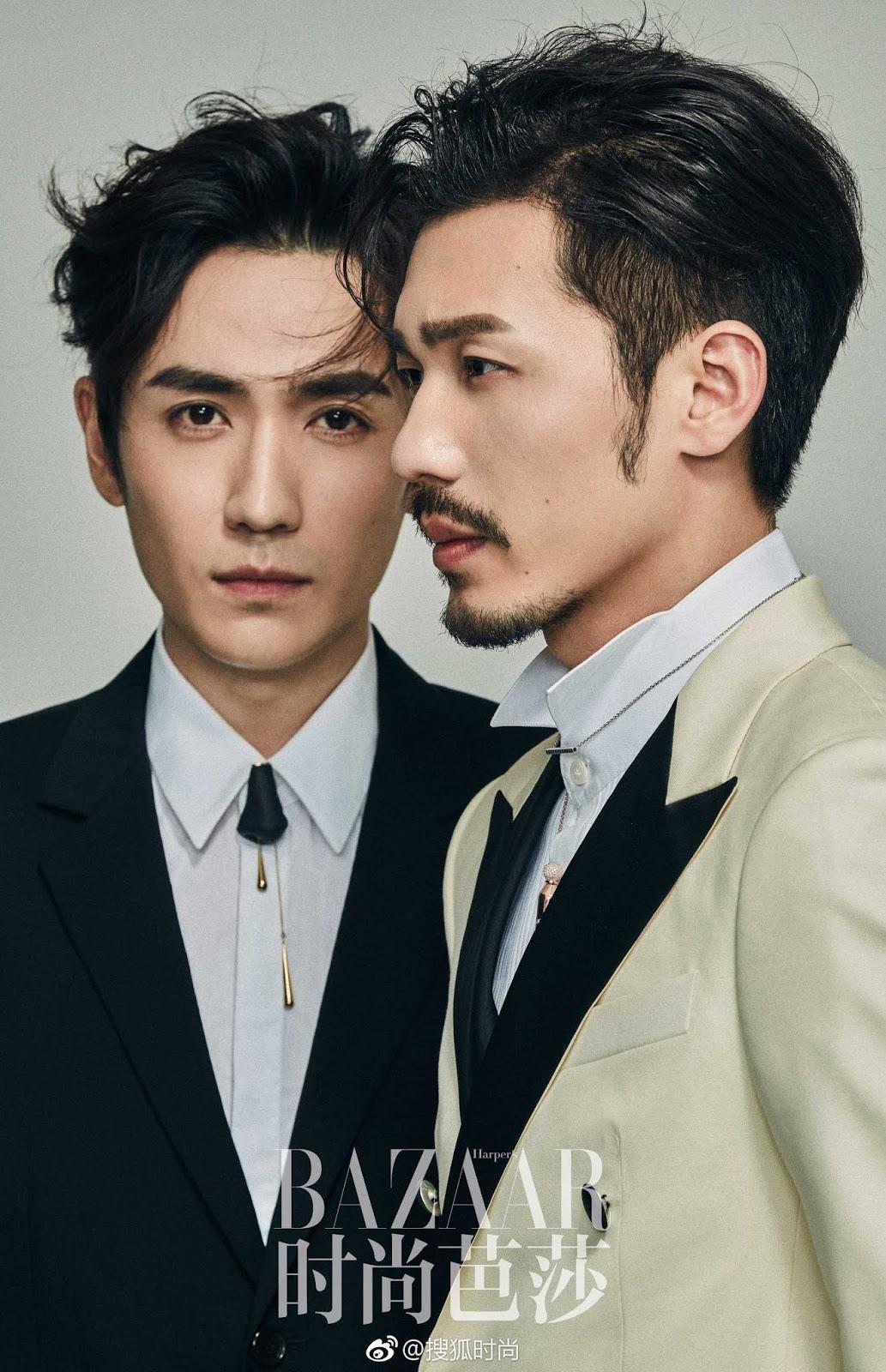 Zhu Yilong y Bai Yu para Harper's Bazaar China por Liang ...