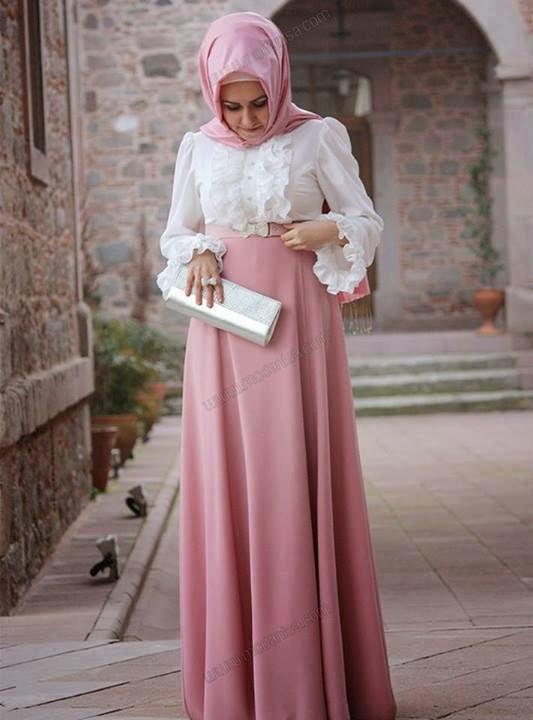 21 Contoh Busana Muslim Untuk Pesta Terbaik 2015 Baju Baju Gamis