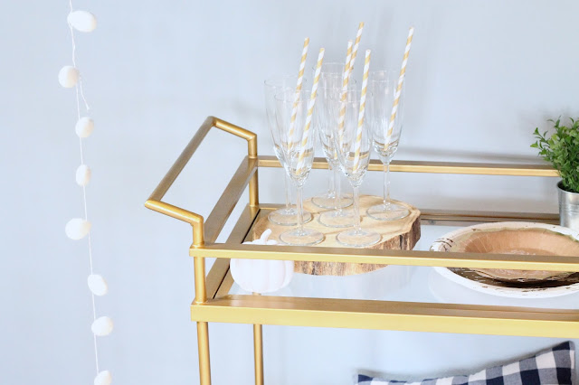 AK Party Studio Friendsgiving Thanksgiving Bar Cart