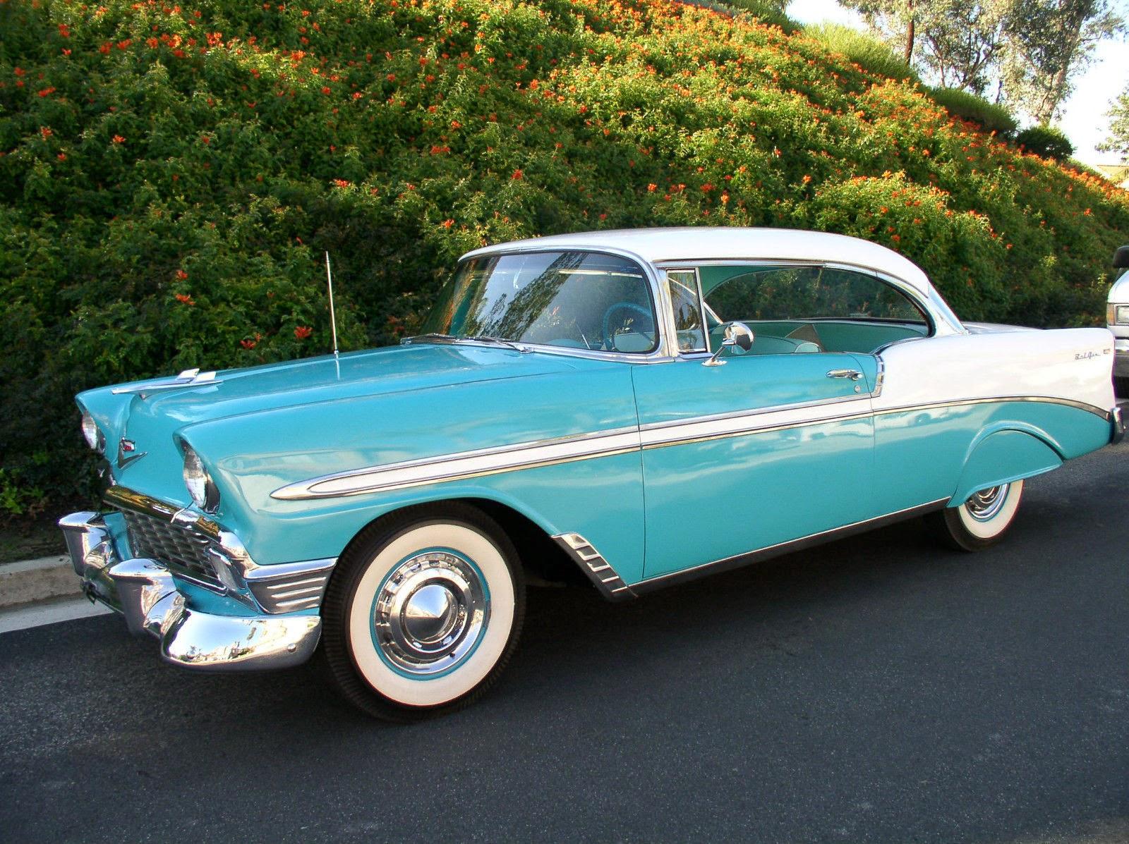all american classic cars 1956 chevrolet bel air 2 door hardtop sport coupe. Black Bedroom Furniture Sets. Home Design Ideas