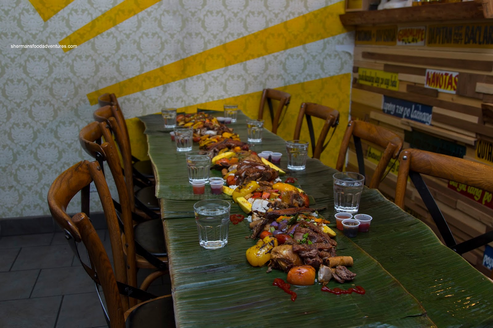 Kamayan Style Dinner Kulinarya Sherman S Food Adventures