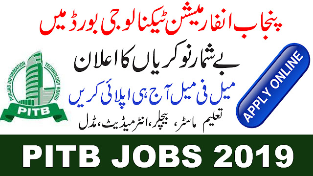 Punjab Information Technology Board Jobs 2019- PITB Jobs 2019