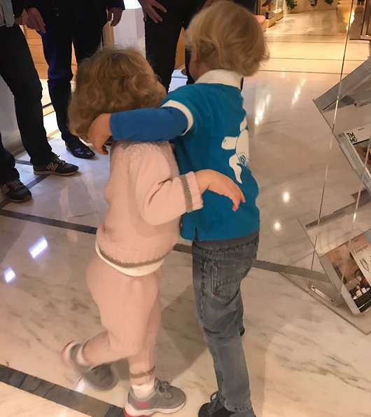 Princess Charlene of Monaco published on her Instagram page three new photos of her twins, Prince Jacques and Princess Gabriella
