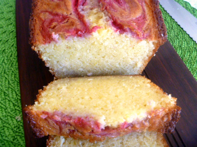 Eat a slice of Sunshine with this Raspberry Swirl Lemon Quick Bread!  Perfect anytime of day. - Slice of Southern