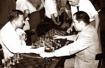 Francisco García Orús y Moisés Rosell en el Campeonato de Catalunya 1957