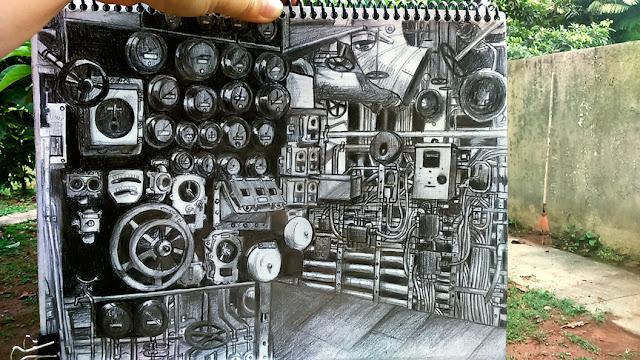 Dibujo de cuarto de máquinas