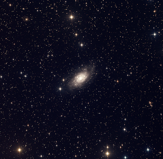 NGC 2403 - Spiral Galaxy in the Constellation Camelopardalis. Image by Michael Petrasko - LRGB 2x300 Seconds each. Binning 2. Image Processed with CCDStack2.
