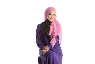 gaya hijab baju kaftan