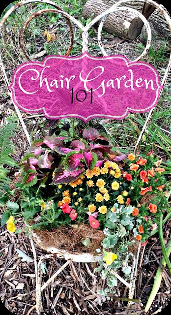 Chair Garden 101 - How to repurpose an old chair into a container garden