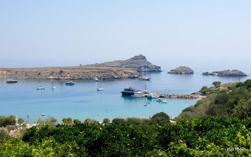Линдос - один из крупнейших портов в Древней Греции