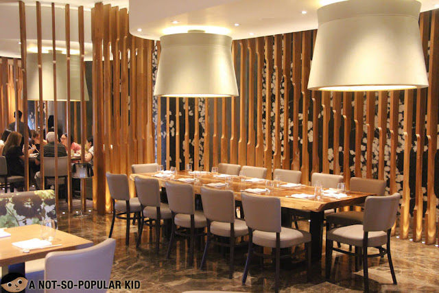 Beautiful interior of Nobu Manila