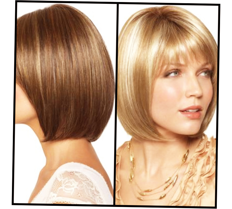 A Line Bob With Side Bangs And Layers Photo