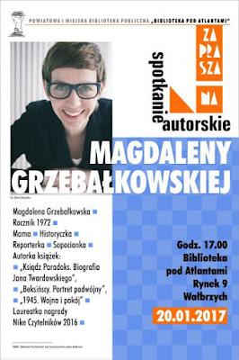 Spotkanie autorskie z Magdaleną Grzebałkowską [FOTORELACJA], Spotkania z pisarzami, Marzenie Literackie