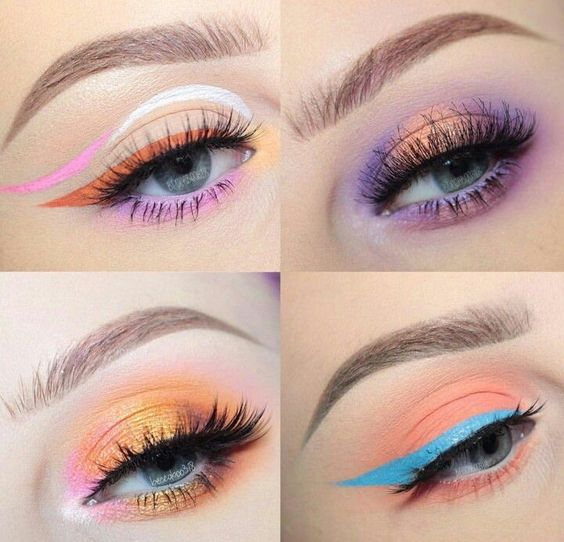 make-up summer looks colorful