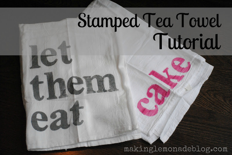 Stamped Tea Towel Tutorial