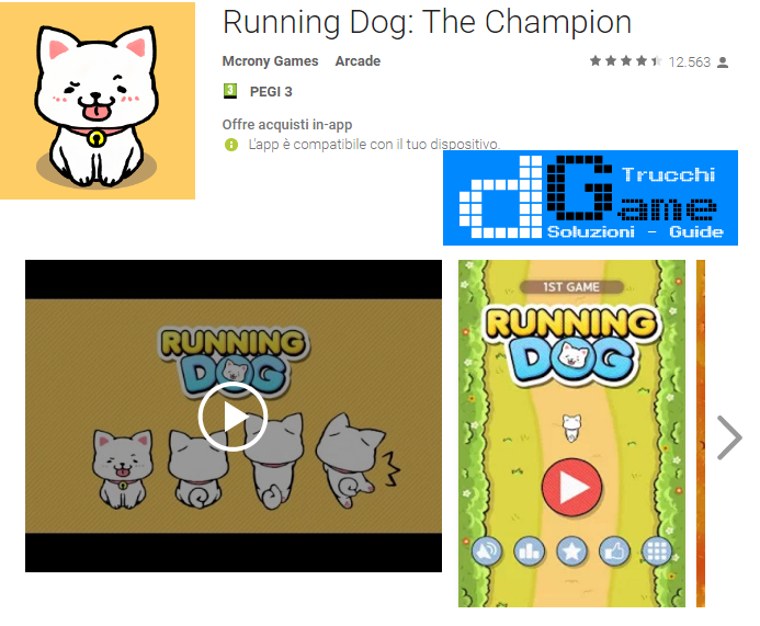 Trucchi Running Dog: The Champion Mod Apk Android v0.31