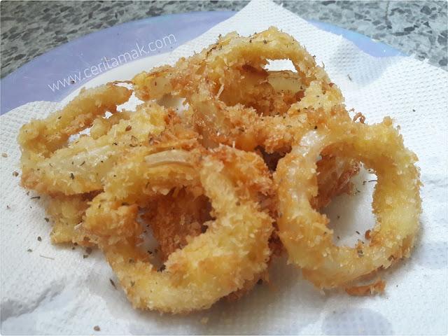 cara buat onion ring sedap dan mudah