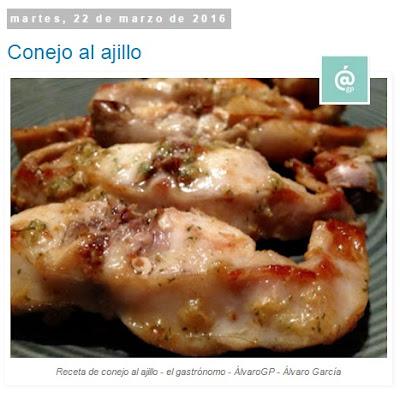 Conejo al ajillo - Conejo - Recetas TOP10 de El Gastrónomo en marzo 2016 - Álvaro García - ÁlvaroGP - el troblogdita