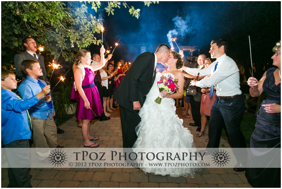 Sparkler Exit at Thomas Birkby House Wedding