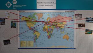 Biblioteca Central Xavier Amorós (Reus) Mapa de viatges dels lectors per Teresa Grau Ros