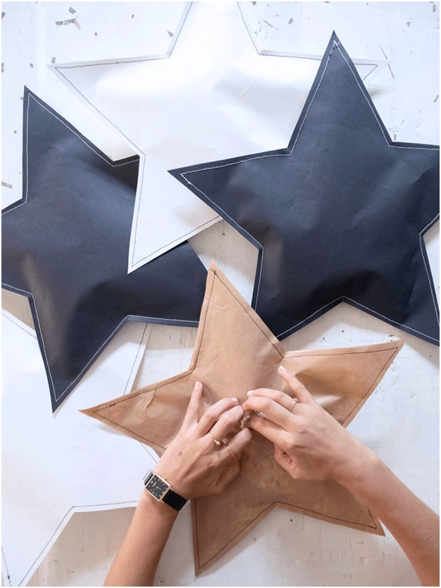 Yıldız Şeklinde Hediye Paketi Yapımı