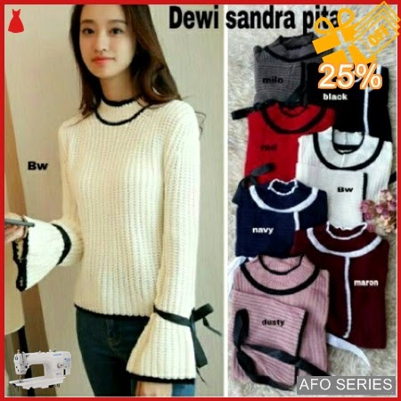 AFO524 Model Fashion Dewi Sandra Pita Rajut Modis Murah BMGShop