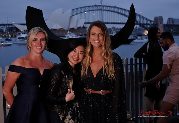 Fashionistas get there picture taken at twilight Sydney Harbours famous Icons as the backdrop. Windsor Smith Celebrates 70 years at #HarbourLife Sydney 2016. Photographed by Kent Johnson for Street Fashion Sydney.