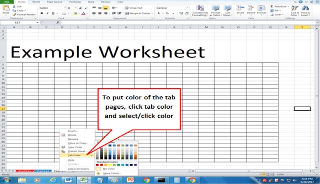 Worksheet_PageColor