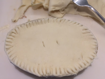 Ham and Leek Pie  ready to go in the oven