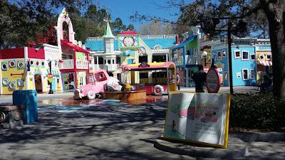 Área infantil do parque Universal Studios