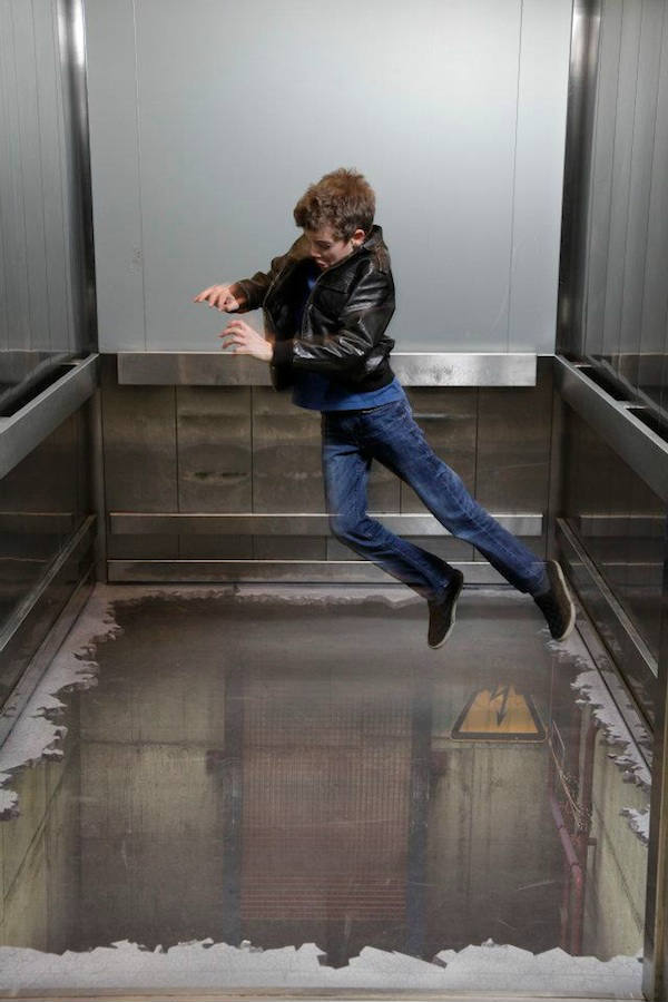 Bottomless Elevator 3d Illusion At London Southside