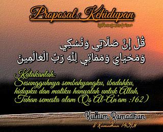 Kultum Ramadhan proposal kehidupan
